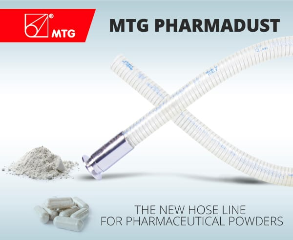 PHARMADUST: The new hose line for pharmaceutical powders