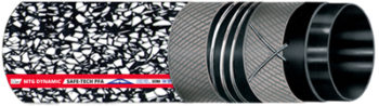 """Multipurpose hose """"Full Ohm"""", designed for conveying cosmetic, pharmaceutical and highly flammable chemical products in working areas requiring utmost safety. Execution complying with EN 12115: 2011."""