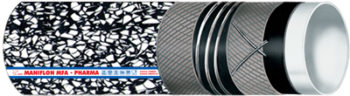 MANIFLON MFA PHARMA: Multipurpose hose for conveying solvents and chemicals with high concentration.
