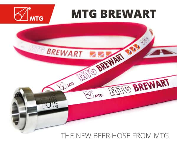 BREWART: THE NEW BEER HOSE FROM MTG, specifically designed to meet the demanding requirements of the beer processing industry.