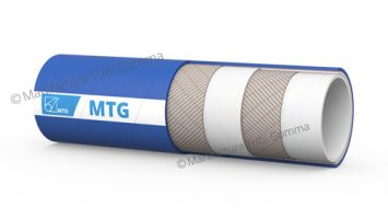 Delivery hose designed to convey milk, milk products and fatty liquid foodstuffs. Normally used in dairies, edible oil mills and food processing industries.