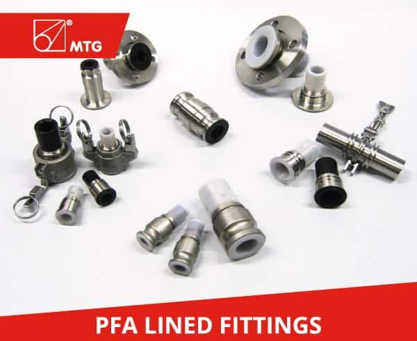 MTG PFA Lined Fittings