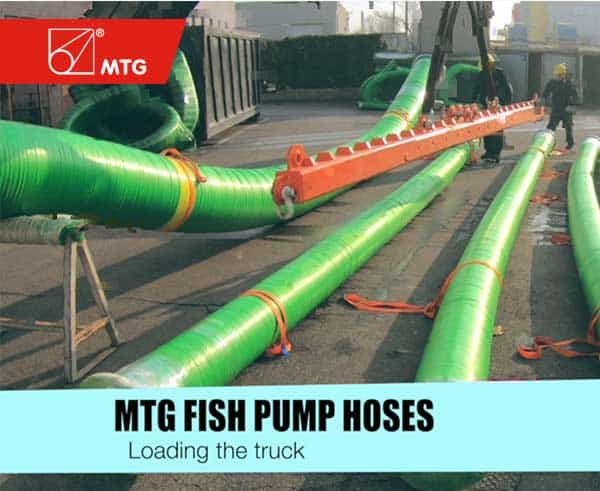 MTG fish pumping hoses - loading the truck